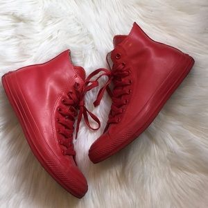 2d8b35dbf408 Converse Shoes - Rare Converse Men s Red Rubber High Top Sneakers